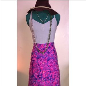 Vintage Skirts - Vintage quilted hot pink purple maxi skirt